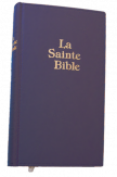 Bible Darby Grand Format - simili cuir bleu semi rigide