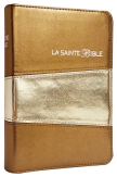 Bible Louis Segond 1910 simili cuir couleur or tranche or