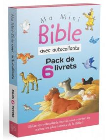 Pack 6 livrets Ma mini bible autocollants