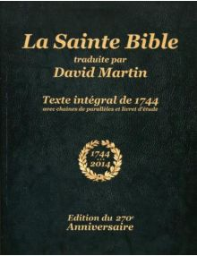 La Sainte Bible traduite par David Martin