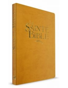 Bible Esaïe ocre grand format souple, tranche or