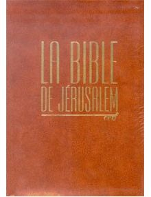La Bible de Jérusalem ref 1231 Marron
