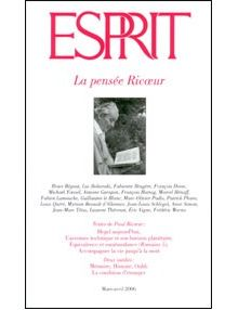 La pensée Ricoeur (Revue Esprit mars/avril 2006)