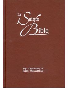 La Sainte Bible (commentaires de John MacArthur) NEG17435