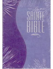 Bible Louis Segond 1910 similicuir duo parme ESA35X